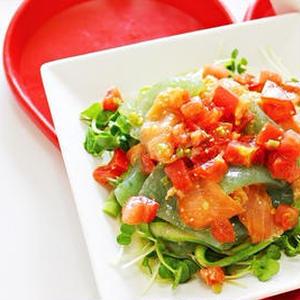 あと一品に◎「刺身こんにゃく」で作るさっぱりサラダ