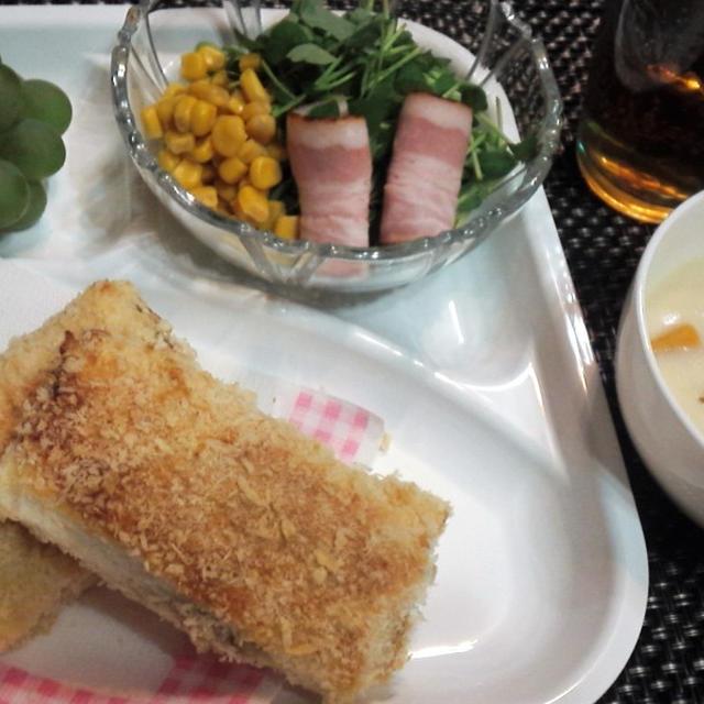 【レシピ】リメイク!カレー!オーブンで簡単!サクッサクで美味しい!【カレーパン】