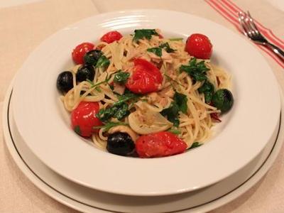 >ツナとオリーブのパスタ by oliveさん