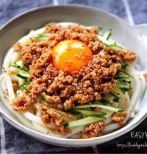 ♡レンジde簡単♡肉味噌うどん♡【#簡単レシピ#ひき肉#冷やし麺】