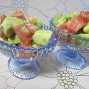 アボカドとトマトの柚子こしょうサラダ