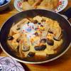 豆腐ステーキのピリ辛卵とじ