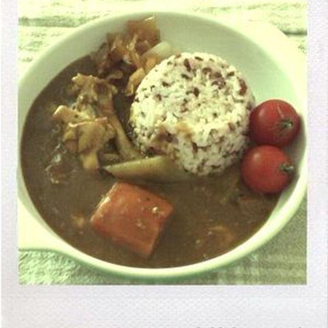 赤米とごろごろ具カレー