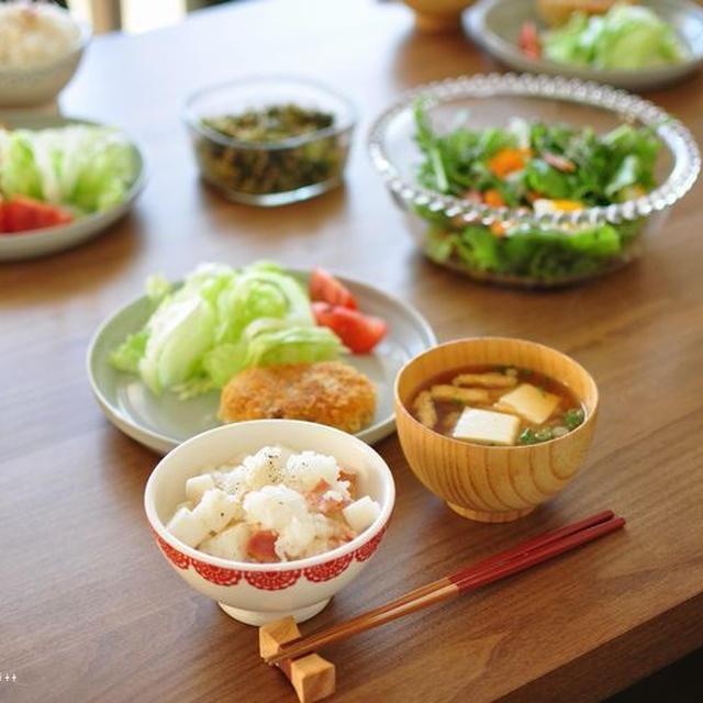 11ぴきのねこのコロッケと菜園風サラダ、兵庫県民の会^^