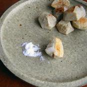 里芋のごま油焼き