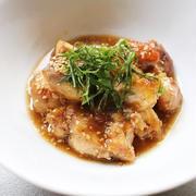鶏肉の美味い焼き   豚バラのみぞれ鍋