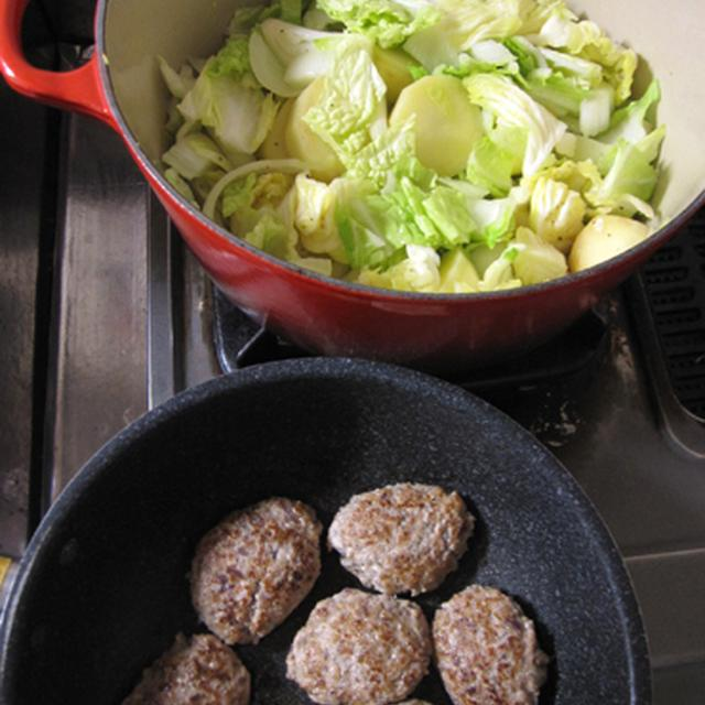 ハンバーグのトマトソース煮込み