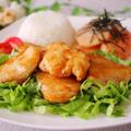 簡単♪ご飯がすすむ鶏胸肉のジューシー照り焼き&山芋のたらこバター醤油焼き by いずみさん