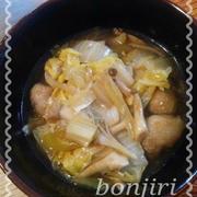 豚こまボールの白菜煮
