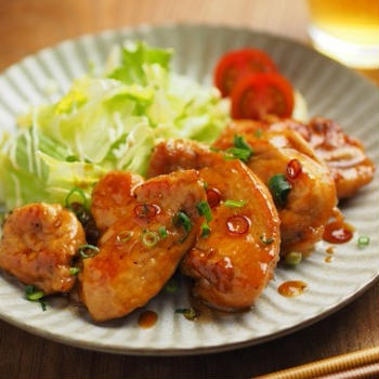 鶏むね肉の甘酢照り焼きの作り方、パサパサしない鶏むね肉料理