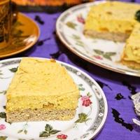 ハロウィン★食感を楽しんで♪パンプキンムースケーキ
