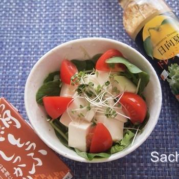 常温長期保存 森永絹とうふしっかりで豆腐サラダ