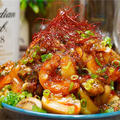 【レシピ】海老とマッシュルームのやみつき香味炒め