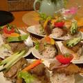 牛肉野菜の一口寿司。