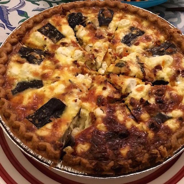フェタチーズのキッシュ。