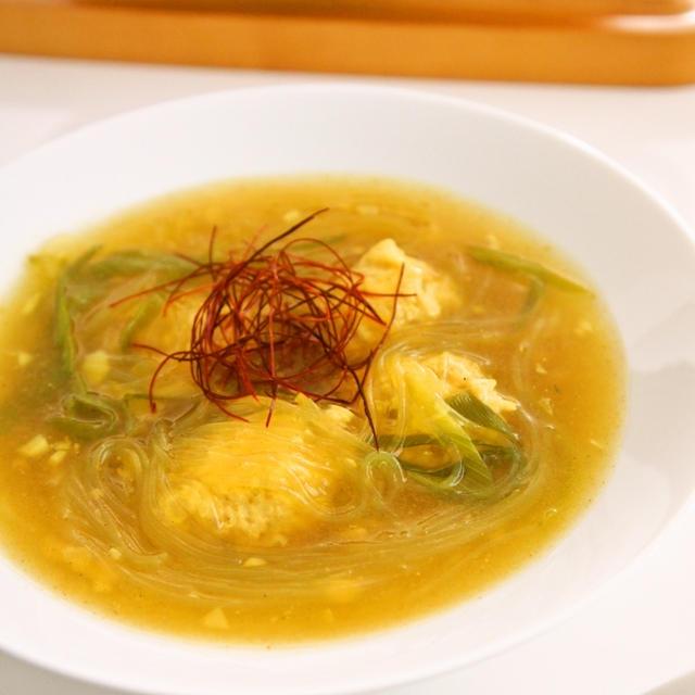 鶏団子の春雨カレースープ