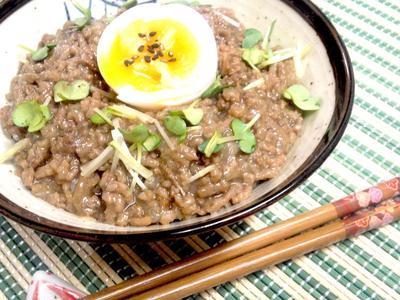 【レシピ】和風ミート丼(肉そぼろ丼)(^^♪