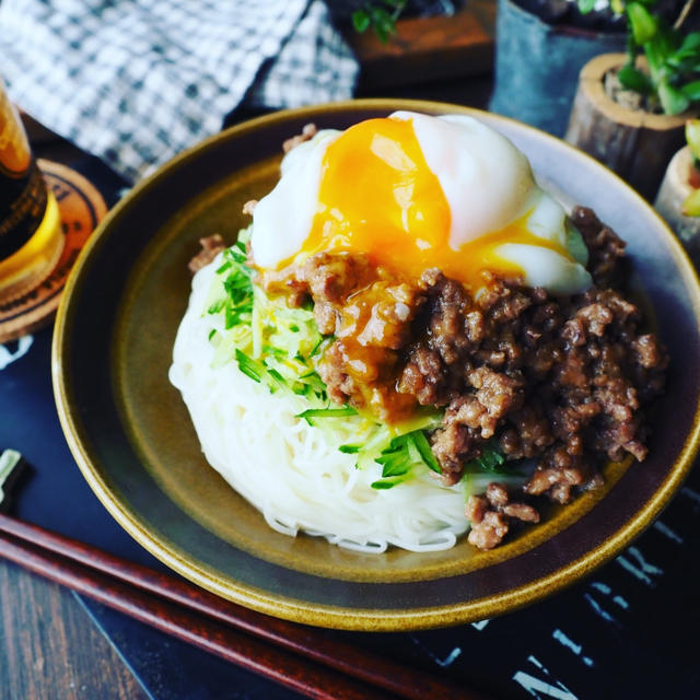 これからの季節にぴったりな素麺レシピ色々❤️我が家自慢の肉味噌素麺と油そば風素麺♪