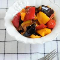 * 夏野菜 * 茄子とパプリカのピリ辛炒め♪