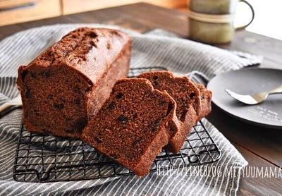 【混ぜて焼くだけお菓子】ショコラパウンドケーキ〜チョコチップ入り〜