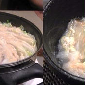 白菜と豚バラのミルフィーユ豆乳鍋