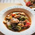 にんべんだしとスパイスの魔法<鶏肉と野菜たっぷりイタリアンソテー>