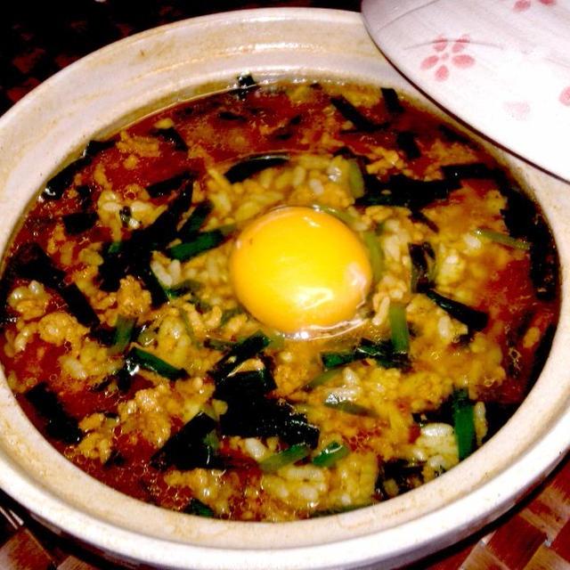 【レシピ】(リメイク)麻婆鍋のスープ ⇒ 麻婆雑炊(^^♪