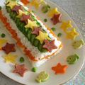 星がきらめく☆七夕寿司ケーキ