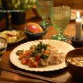 ニラだれをかけた『しゃぶしゃぶ』で秋の夕飯、元気いっぱい。