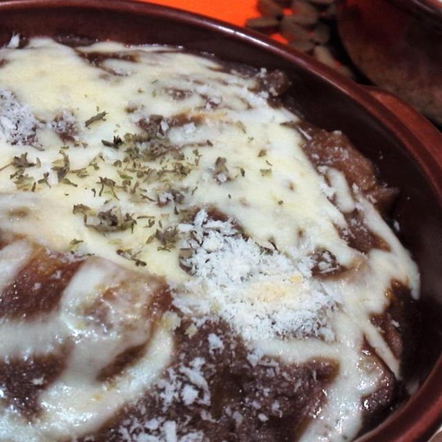 【レシピ】リメイク)余ったカレー ⇒ 焼きチーズカレー(^^♪