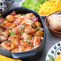 スパイスで「さっぱり・さわやか」イタリア気分♪ 鶏肉とじゃがいものオーブン焼き