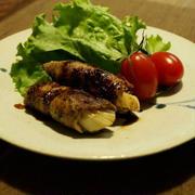 下仁田ねぎの肉巻き&さつま芋のお味噌汁