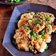 ♡鶏むね肉のごまねぎぽん酢♡【#簡単レシピ#時短#節約#コスパ】