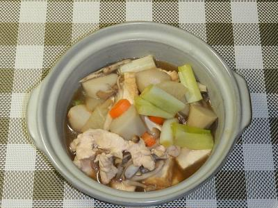 鶏胸肉の芋煮鍋