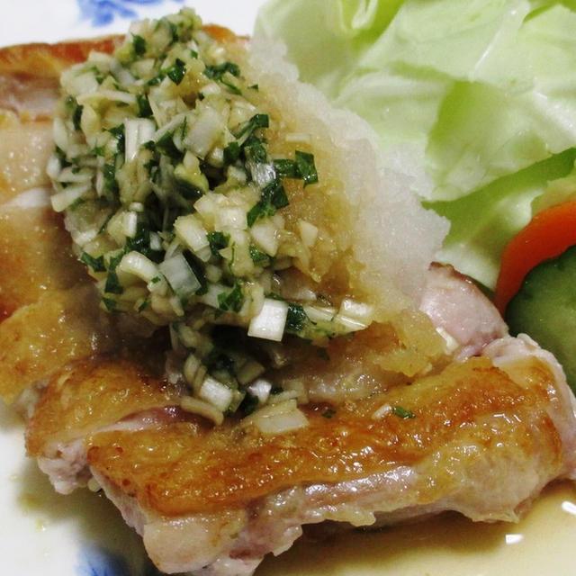 鶏もも肉のおろし&香味ポン酢ダレ<さっぱり♪>