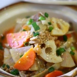 根菜たっぷり!栄養満点♪お肉も入った煮込みレシピ