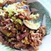 牛肉とお茄子のスパイスカレー炒め