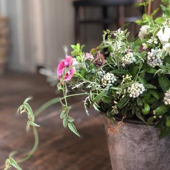 ギャザリングレッスン 紫陽花とペチュニアを入れる