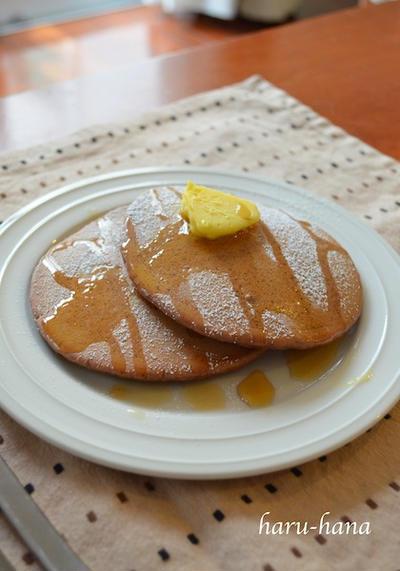 手作りチョコレートパンケーキ☆