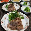 牛薄切り肉の焼きしゃぶと大根のさっぱり煮