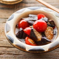 【旬レシピ】トマトとなすのマリネ/簡単副菜♡/米油/食材2つ