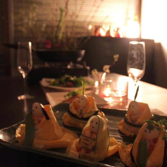 いまさらですが、ひな祭りのお寿司 《包丁を使わない料理》