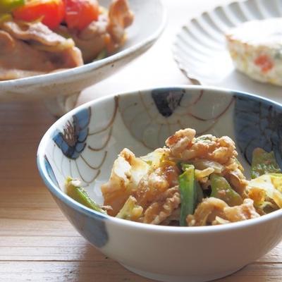 【レシピと献立】キャベツとくるみの胡麻酢和えと献立
