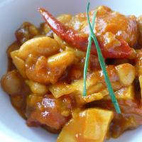 きのうのおつまみ  豆とトマトのカレー
