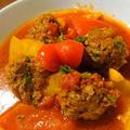 ミートボールとパプリカのトマト煮