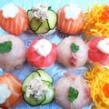 彩り綺麗な手まり寿司