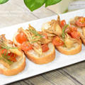 トマトと舞茸のブルスケッタ