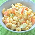 シャキッと食感の爽やかな香りで初夏の味〜セロリとゆで卵のマカロニサラダ。