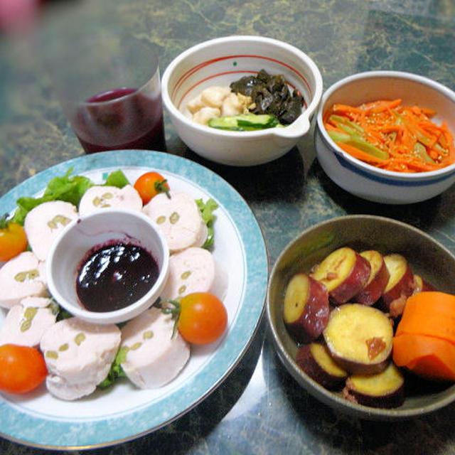 8月2日(木曜日)メインはモニター料理☆塩麹ロールチキン☆他小さな野菜のおかず全4品