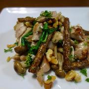 牛蒡とハーブ鶏のサラダ